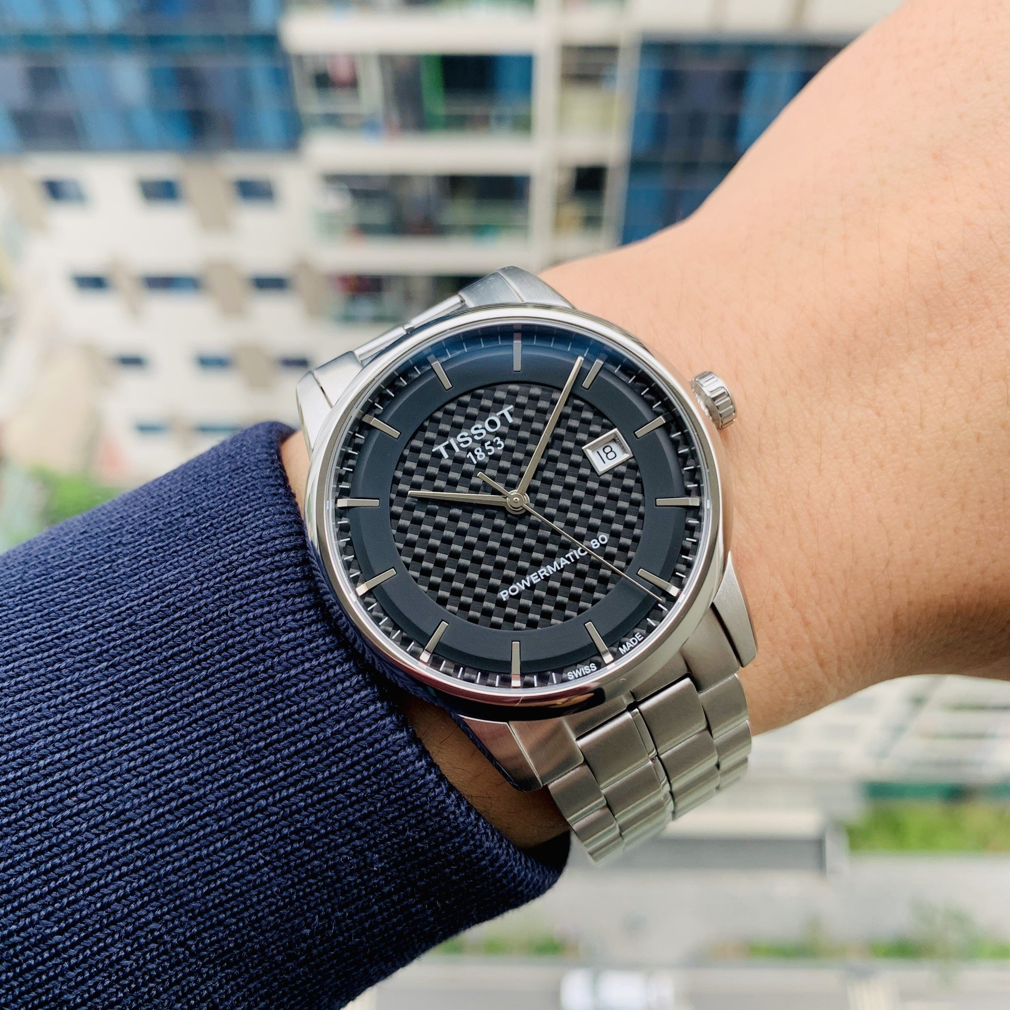 Đồng Hồ Nam Tissot Luxury Powermatic 80 Black T086.407.11.201.02