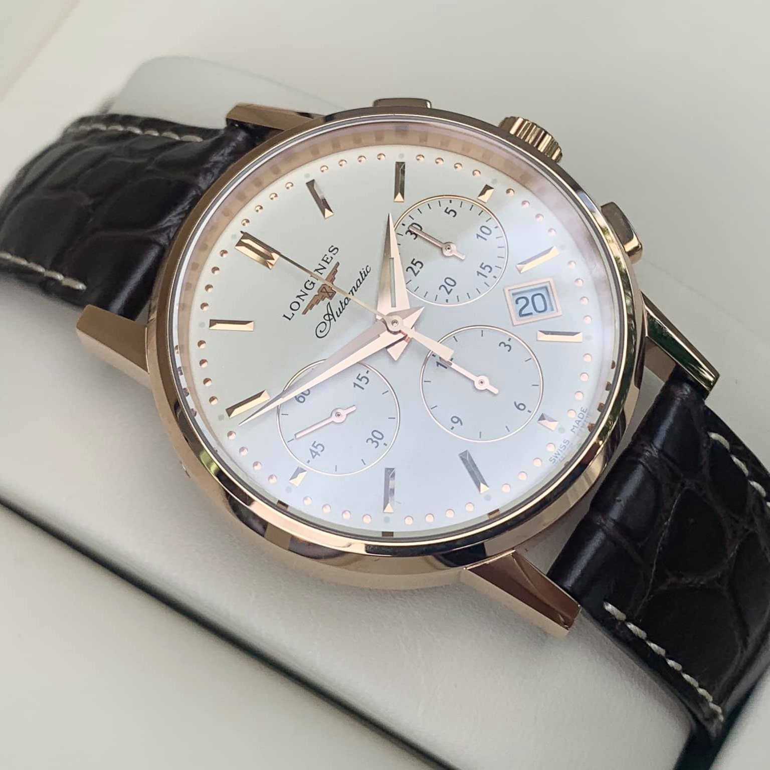 Longines Heritage Chronograph Rose Gold 18k L2.749.8.72.2