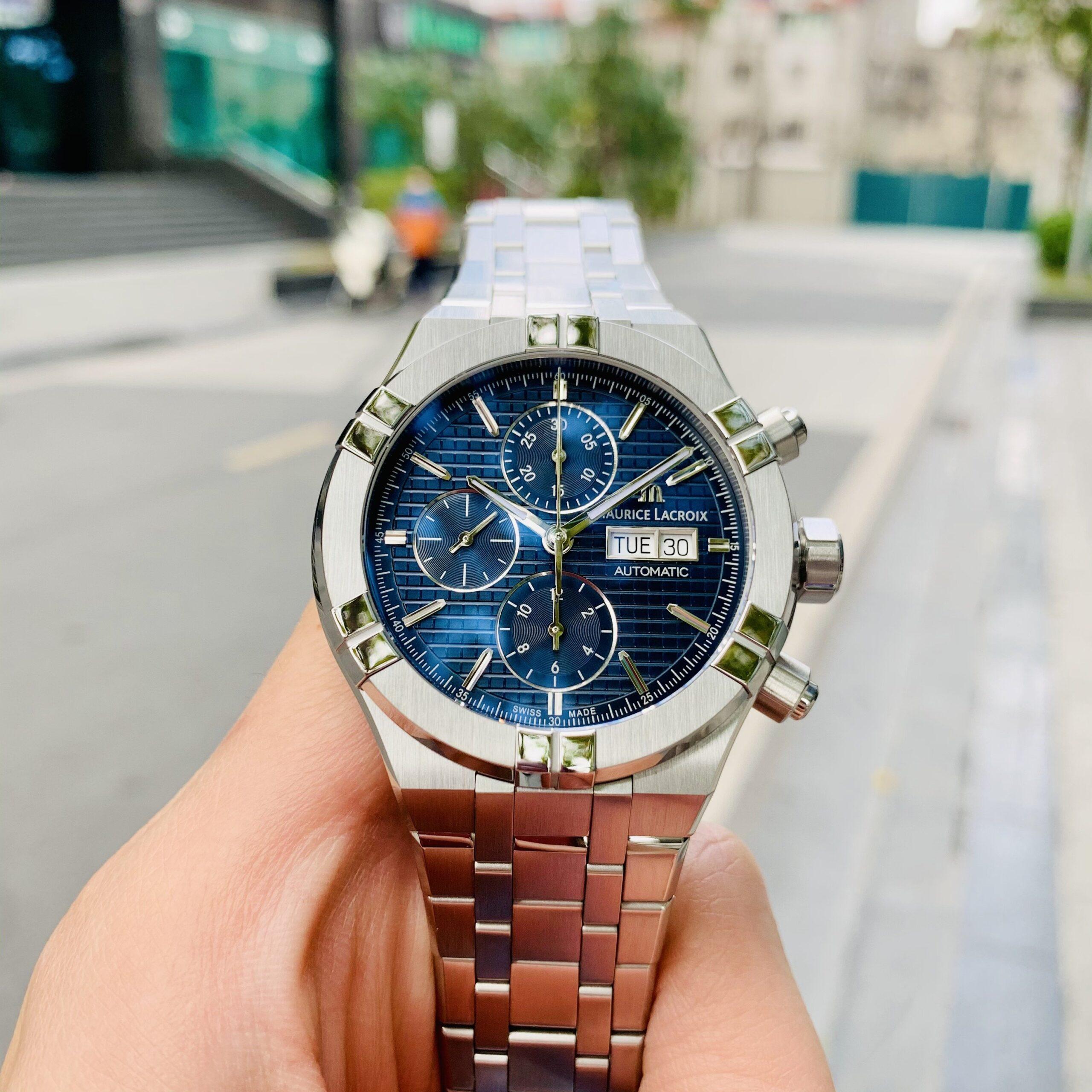 Đồng hồ Maurice Lacroix Aikon Automatic Chronograph AI6038-SS002-430-1