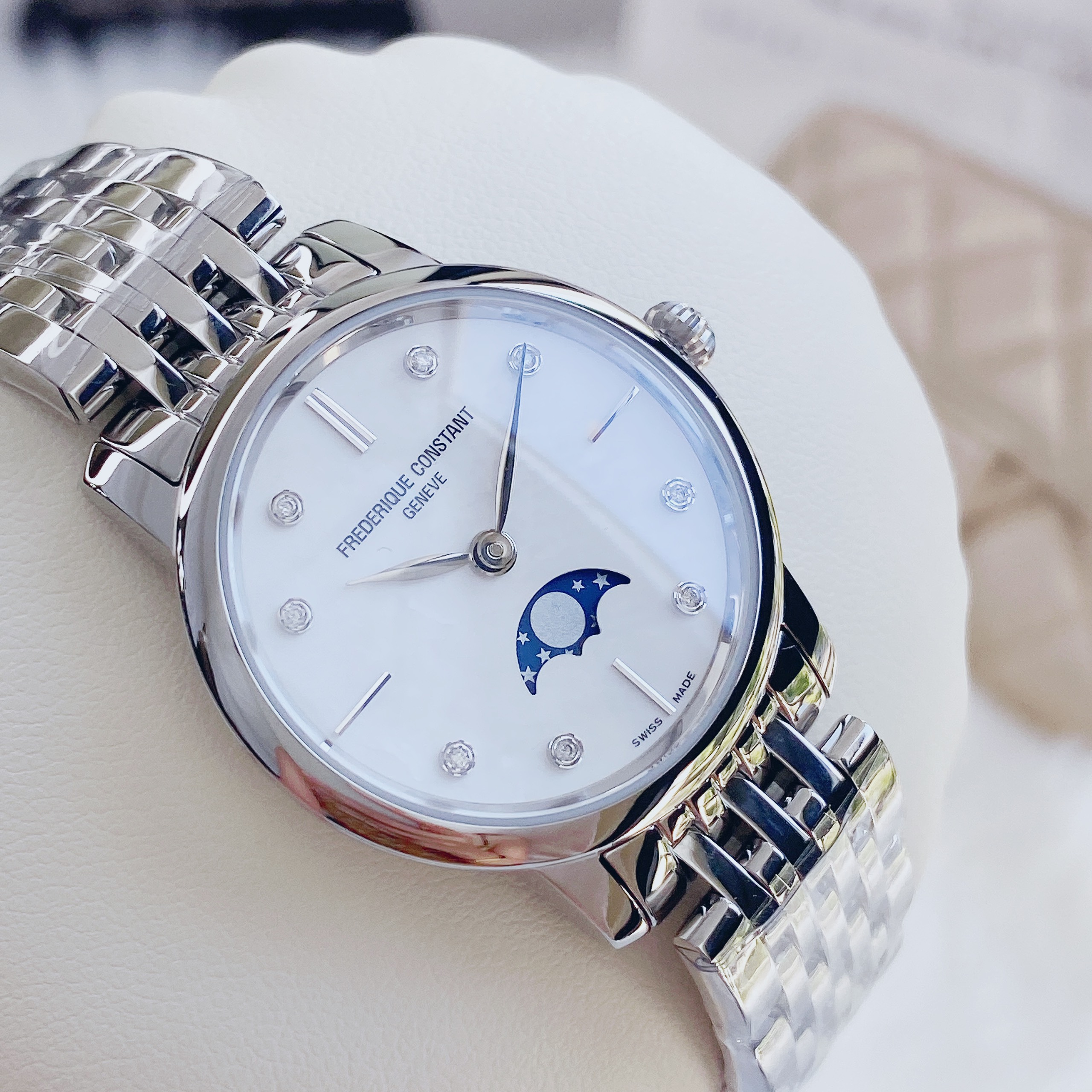 Đồng Hồ Frederique Constant Slimline Mother of Pearl FC206MPWD1S6B