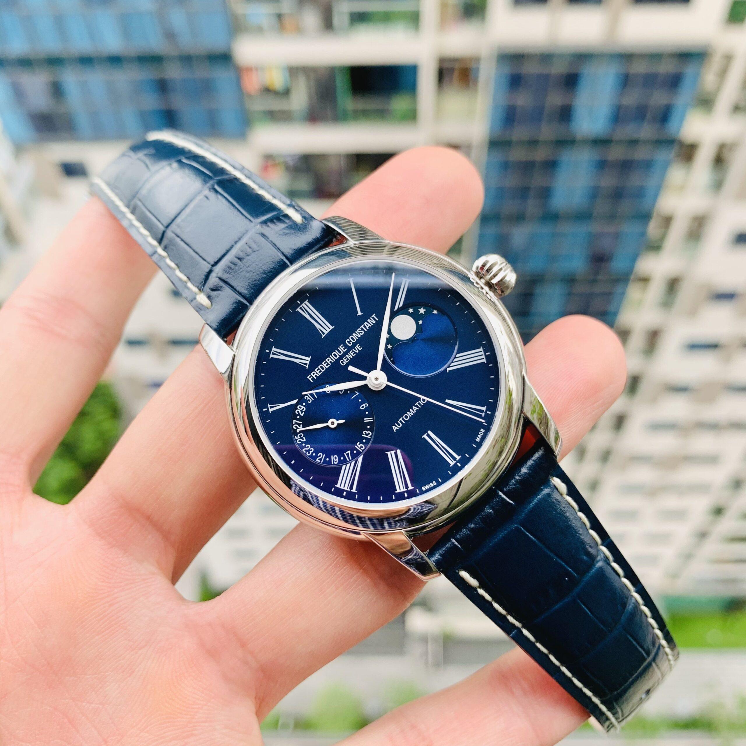 Đồng Hồ Nam Frederique Constant Moonphase Blue FC-712MN4H6