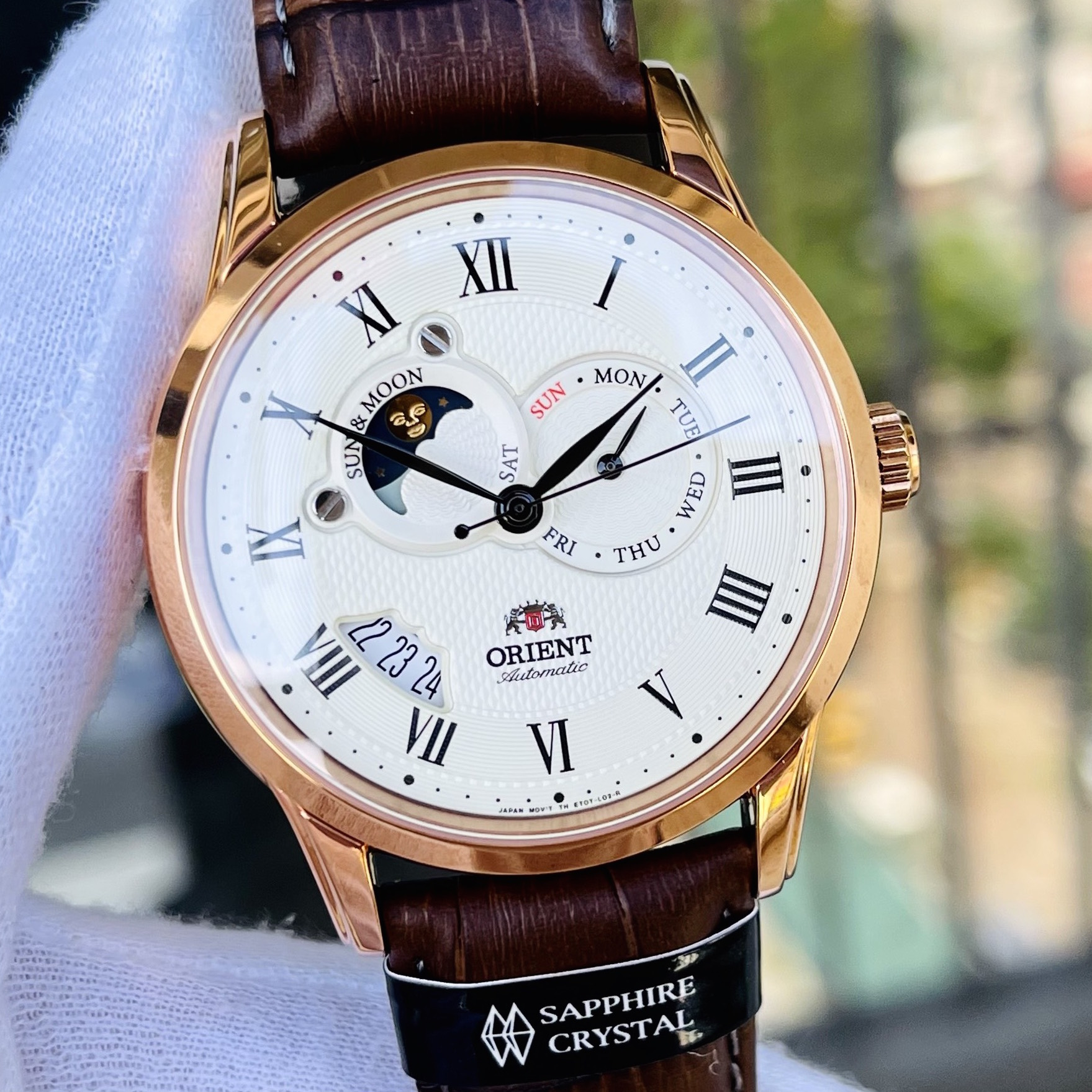 Đồng Hồ Orient Sun and Moon Analog FET0T001W0